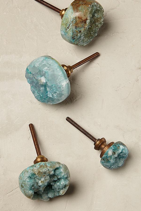 Gemology Knob - Turquoise, Size L