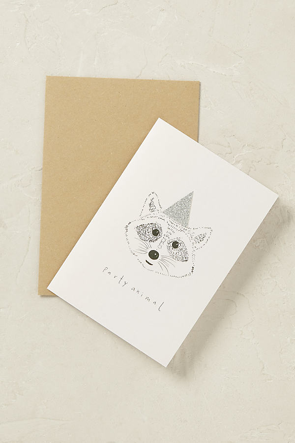 Party Animal Card - Light Grey