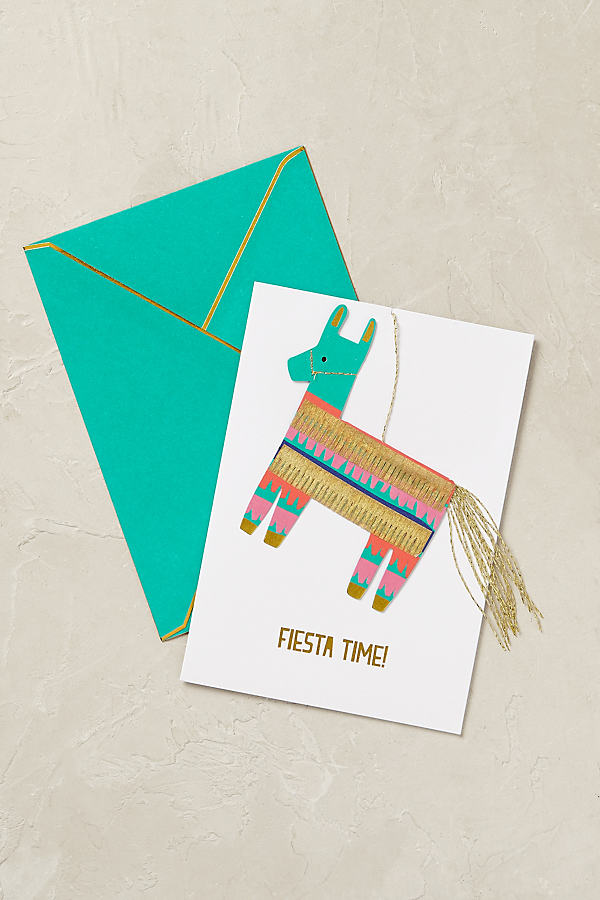 Fiesta Birthday Card - Blue