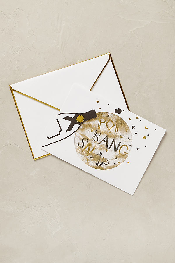 Champagne Congratulations Card - Gold