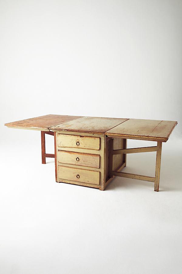 Solid Drop Leaf Table - Neutral Motif