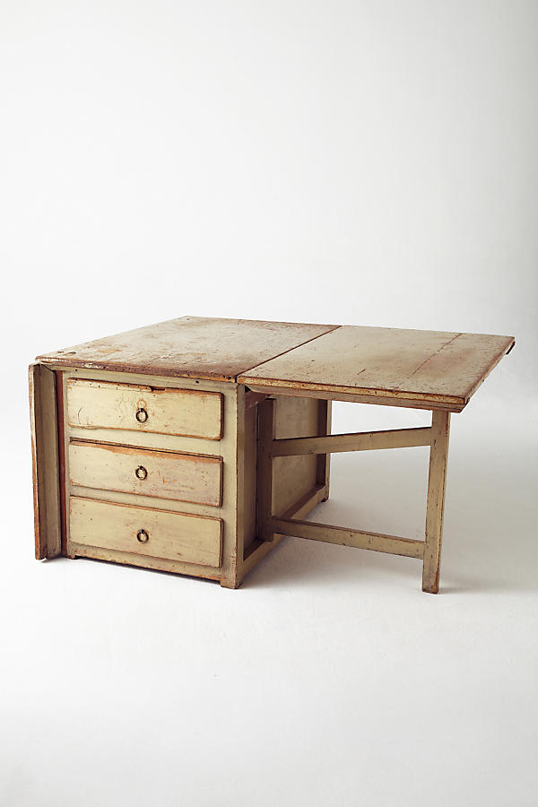 Slide View: 2: Solid Drop Leaf Table