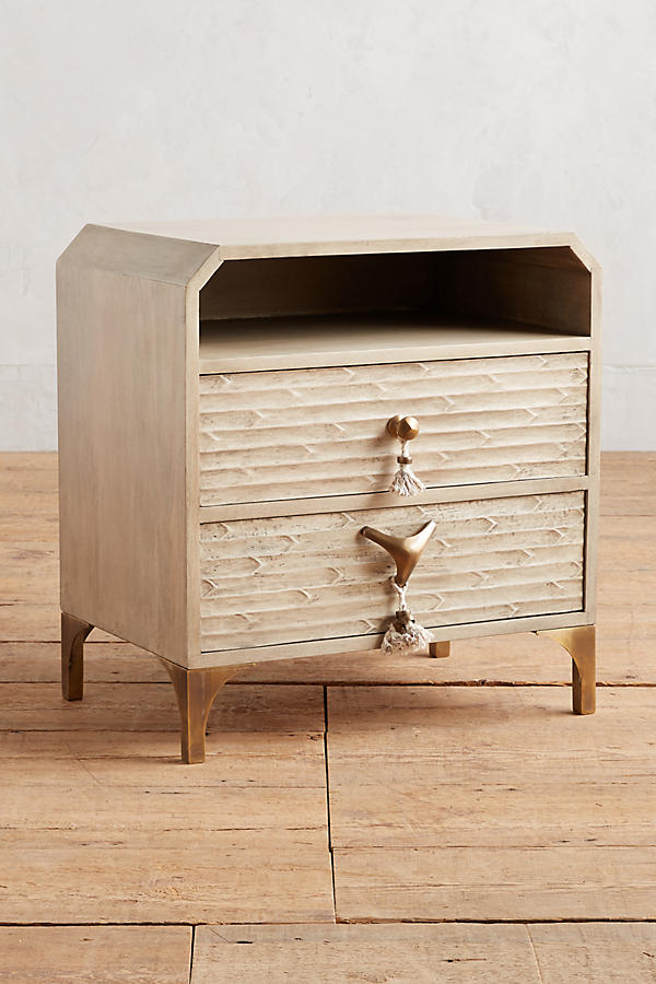 Slide View: 1: Zagora Tasselled Nightstand