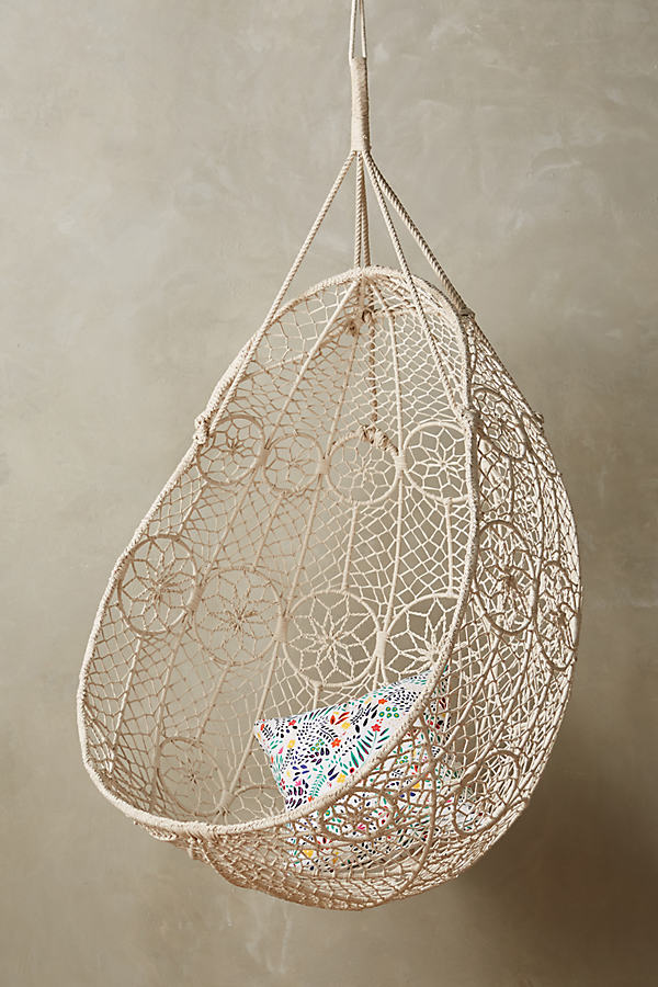 Knotted Melati Hanging Chair - White