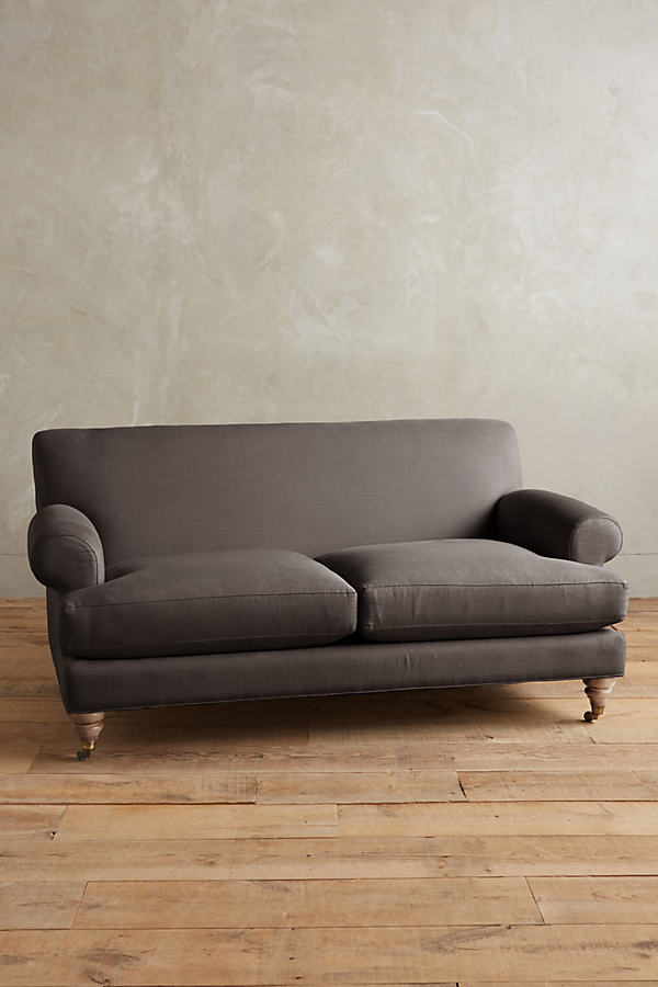 Linen Willoughby Sofa, Wilcox Legs - Dark Grey