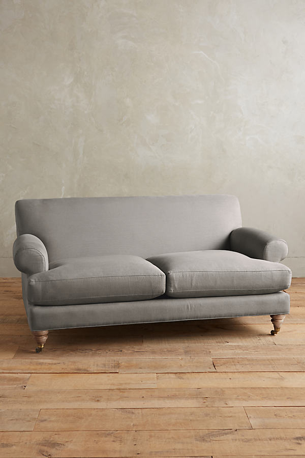 Linen Willoughby Sofa, Wilcox Legs - Light Grey