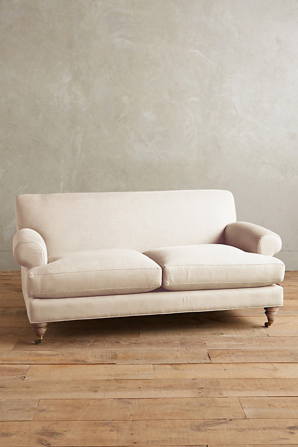 Linen Willoughby Sofa, Wilcox Legs - Cream