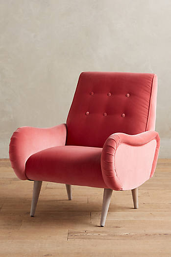 Velvet Losange Chair