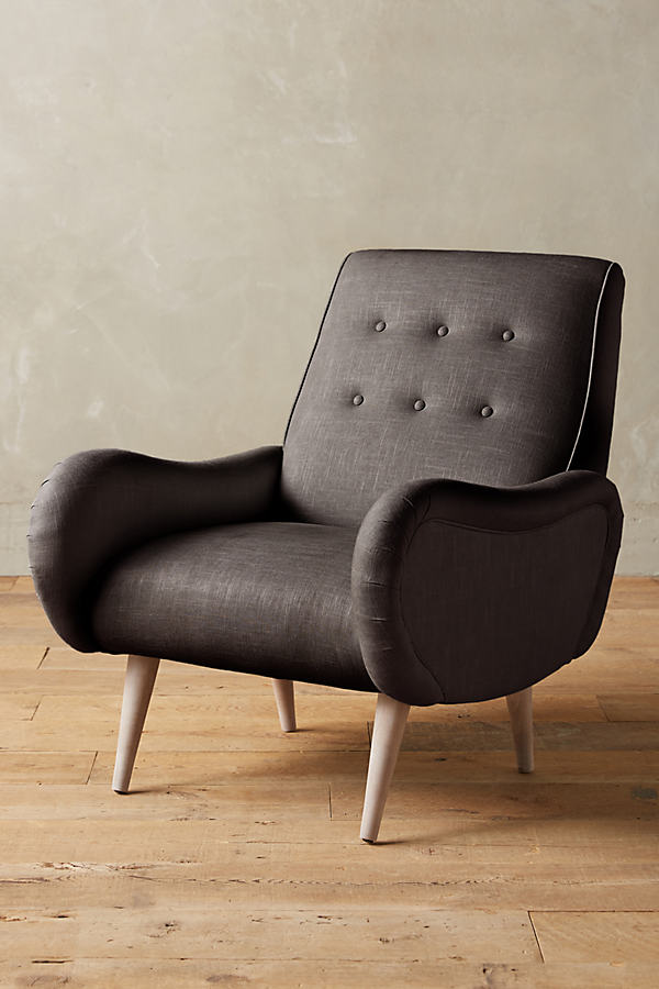 Linen Losange Chair - Dark Grey
