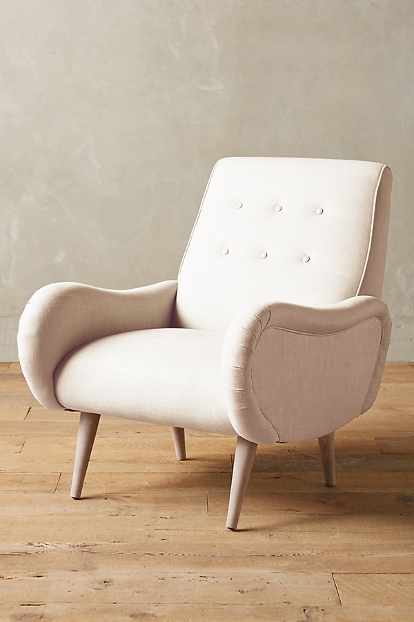 Linen Losange Chair - Cream