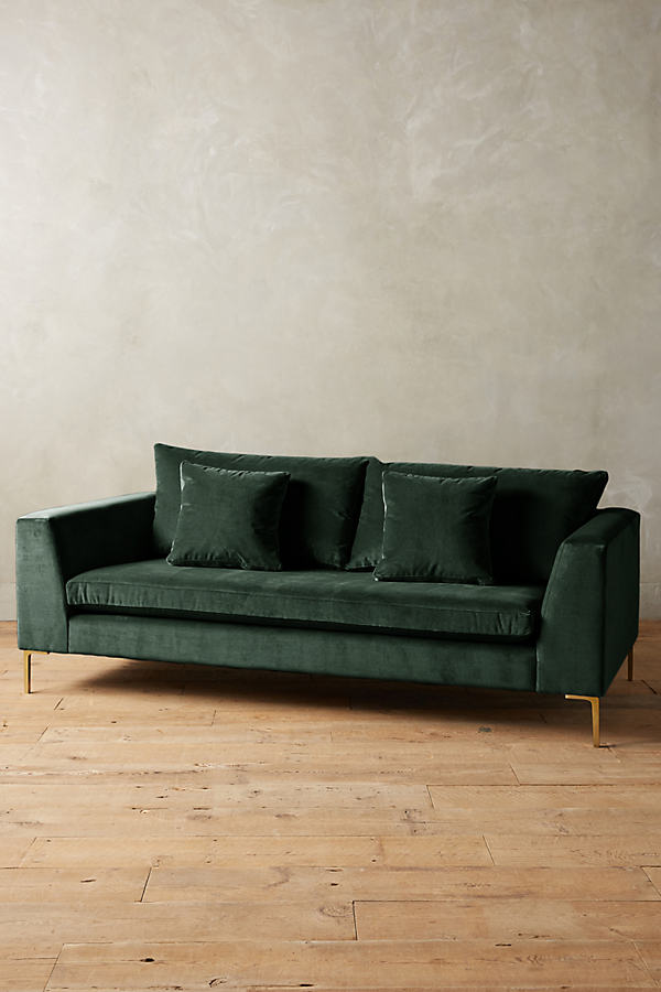 Velvet Edlyn Sofa - Green