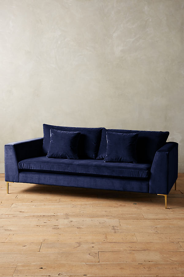 Velvet Edlyn Sofa - Blue