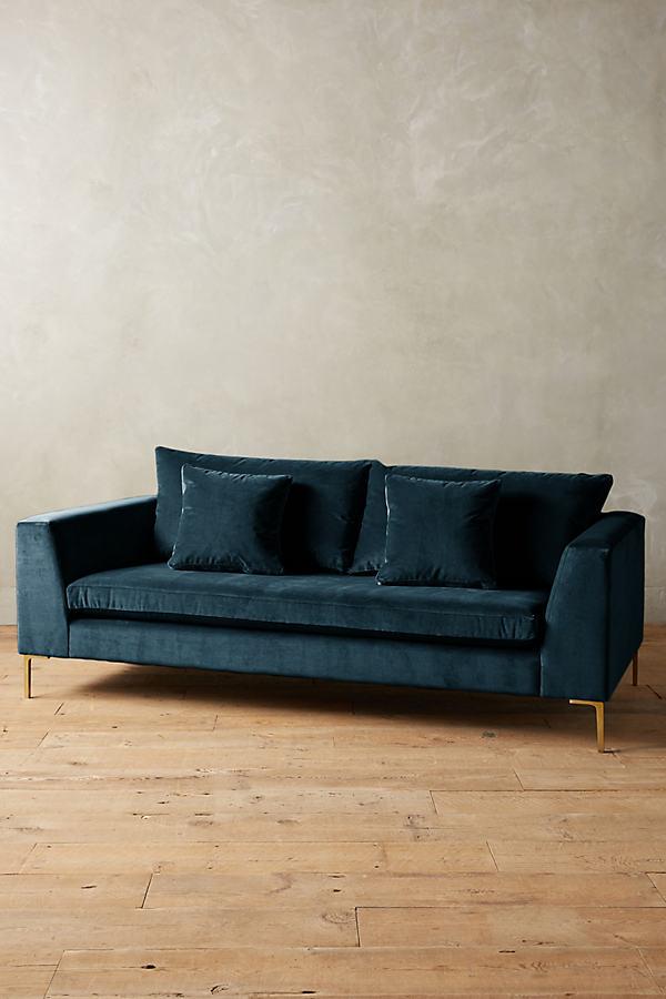 Velvet Edlyn Sofa - Blue Green