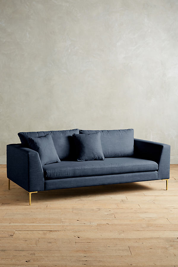 Linen Edlyn Sofa - Navy