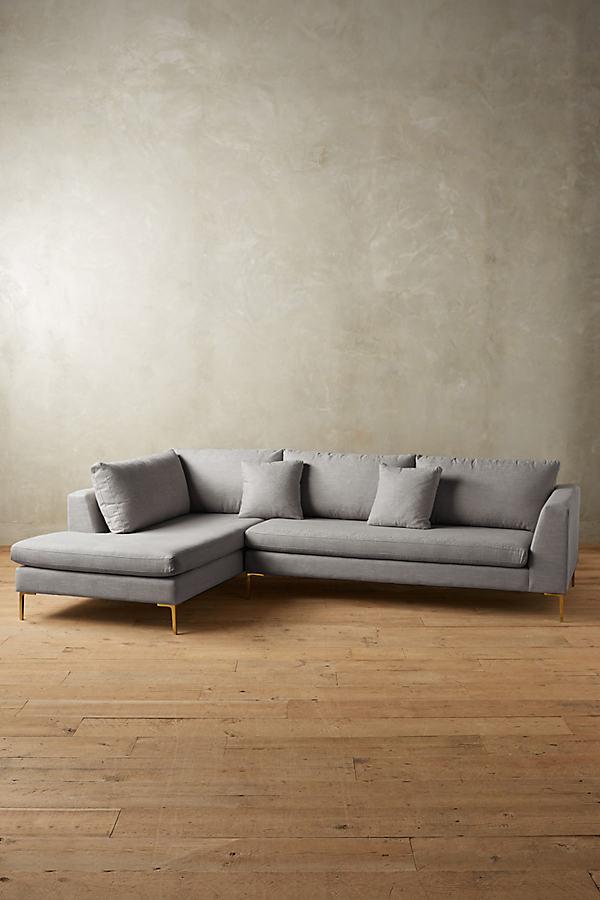 Linen Edlyn Left Sectional - Light Grey