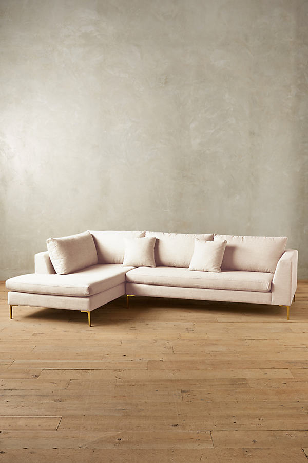 Linen Edlyn Left Sectional - Cream