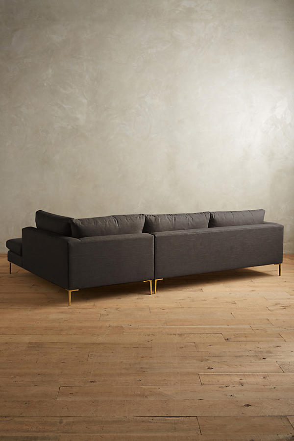 Slide View: 2: Linen Edlyn Right Sectional