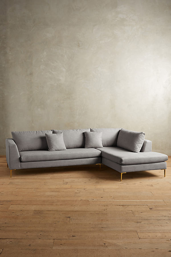 Linen Edlyn Right Sectional - Light Grey