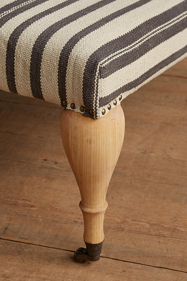Slide View: 2: Cotton Dhurrie Medium Trinette Ottoman