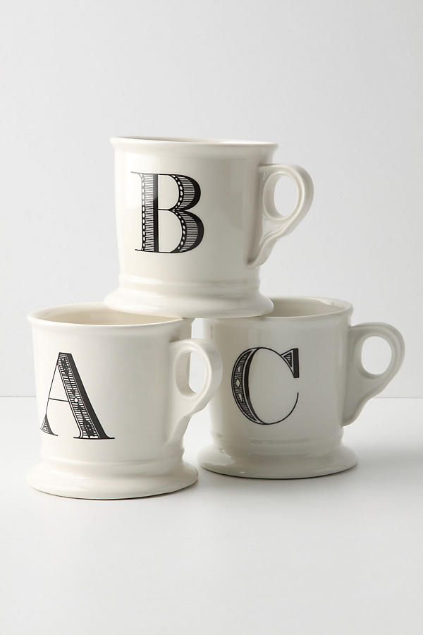 Chic monogram mugs