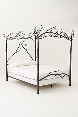 White Canopy Beds forest canopy bed | anthropologie