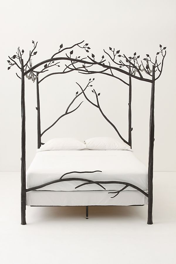 white tree branch bed frame | Forest Canopy Bed | Anthropologie