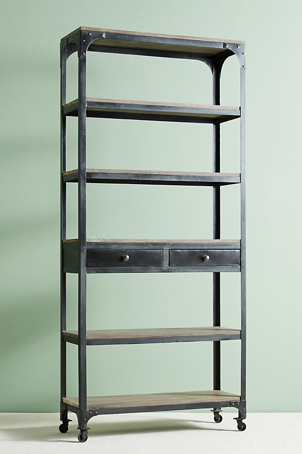 Slide View: 2: Decker Five-Shelf Bookshelf