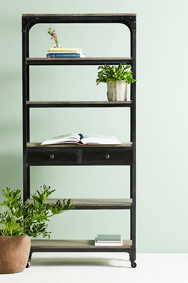 Slide View: 1: Decker Five-Shelf Bookshelf