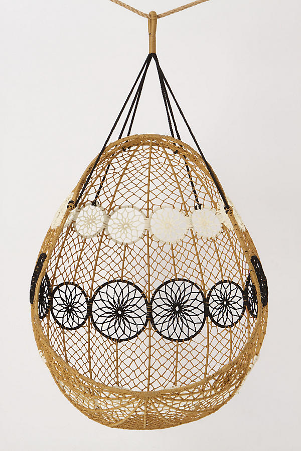 Knotted Melati Hanging Chair Anthropologie Rattan