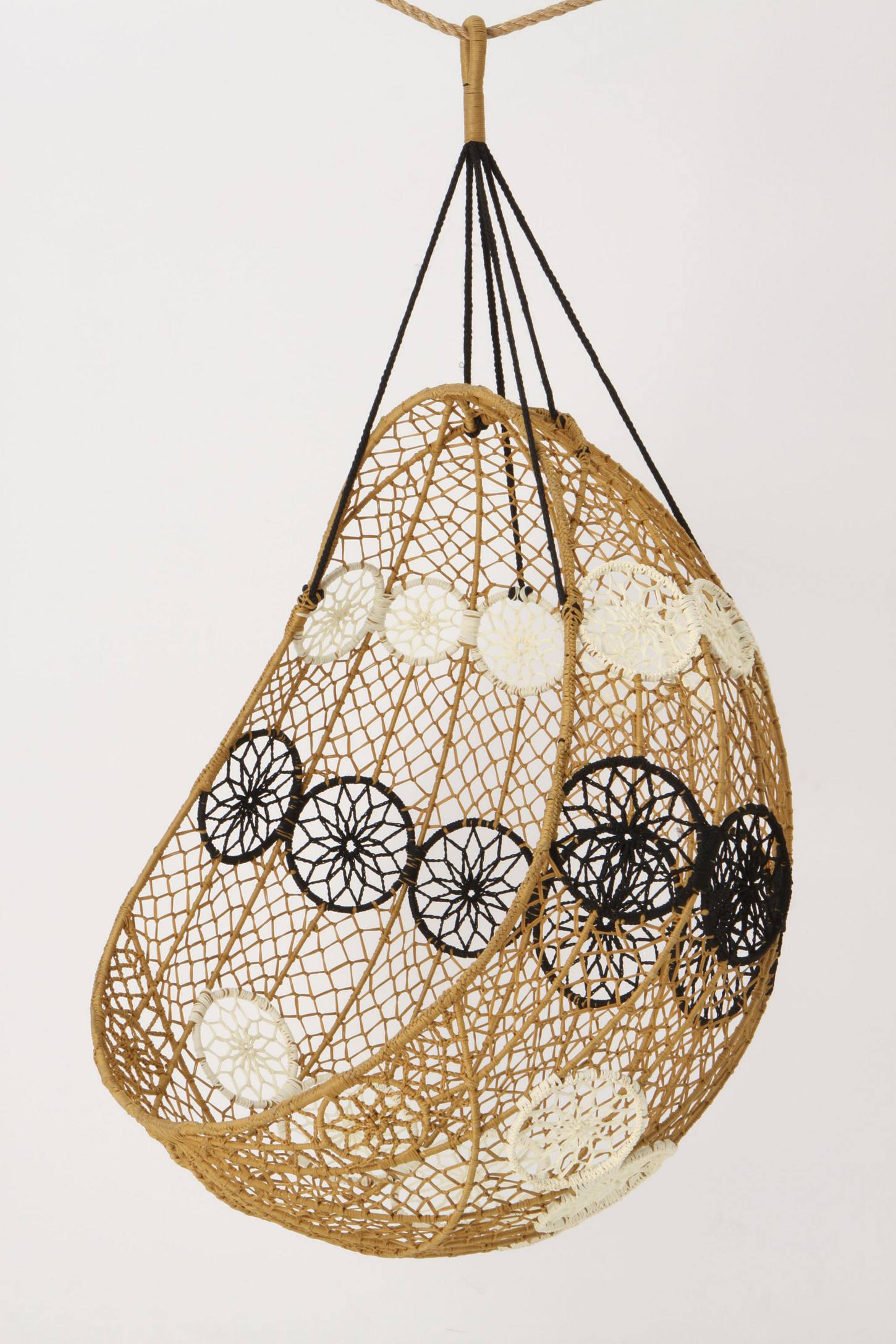 Slide View: 3: Knotted Melati Hanging Chair