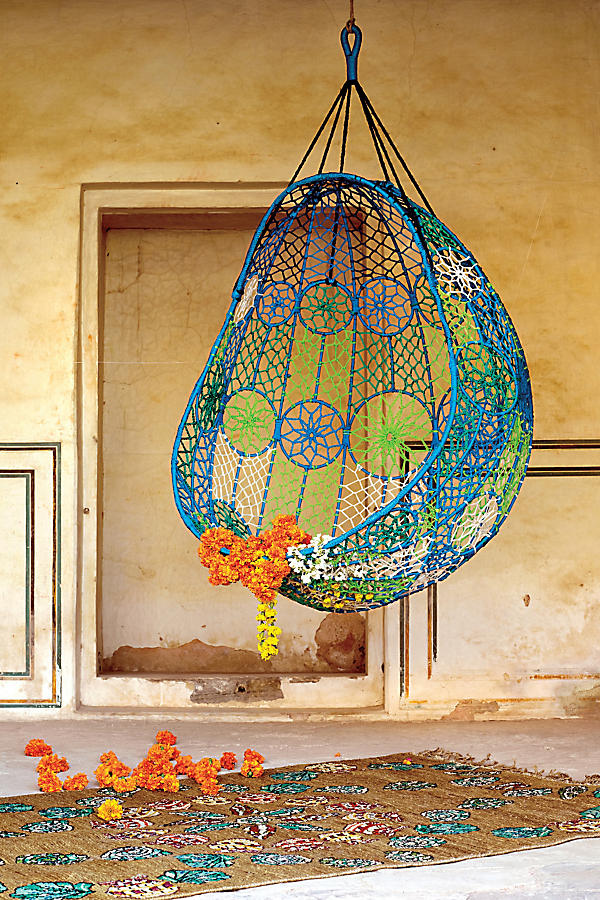 Slide View: 5: Knotted Melati Hanging Chair
