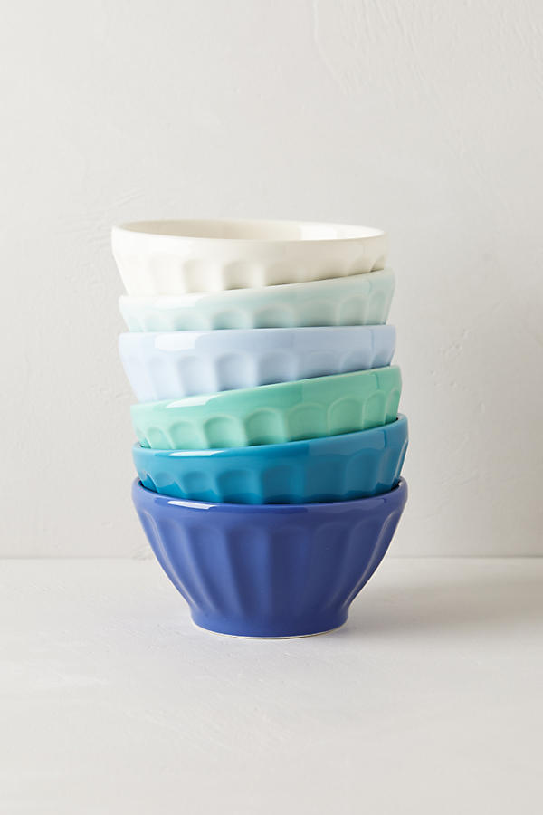 Slide View: 1: Assorted Latte Bowls Set