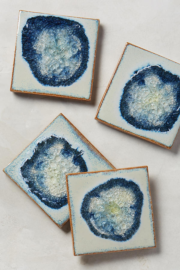 blue coaster gift set