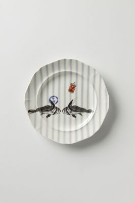 & From The Deep Salad Plate Kissing Fish | Anthropologie