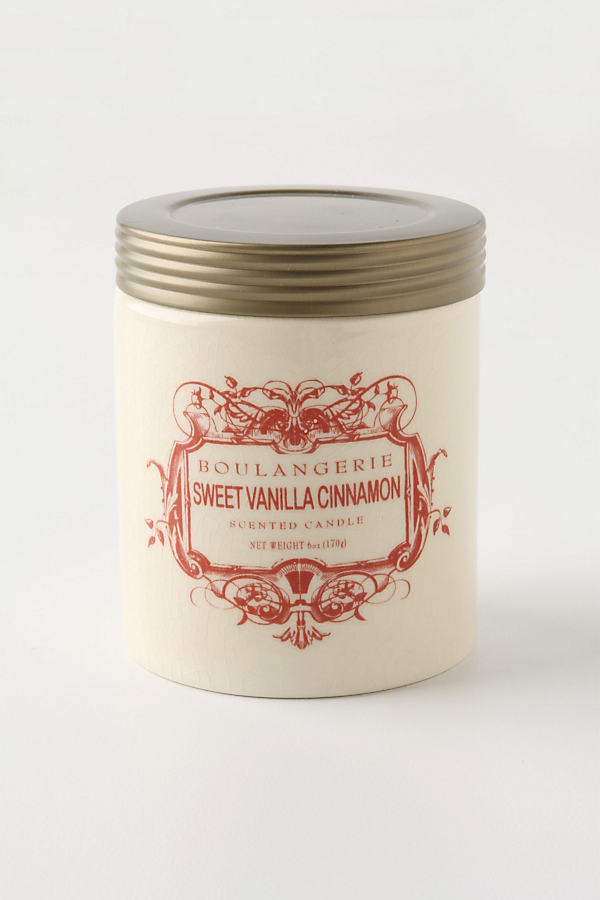 Boulangerie Candle Jar - Red