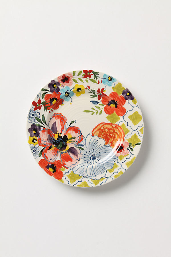Sissinghurst Castle Side Plate - Multi, Size Salad