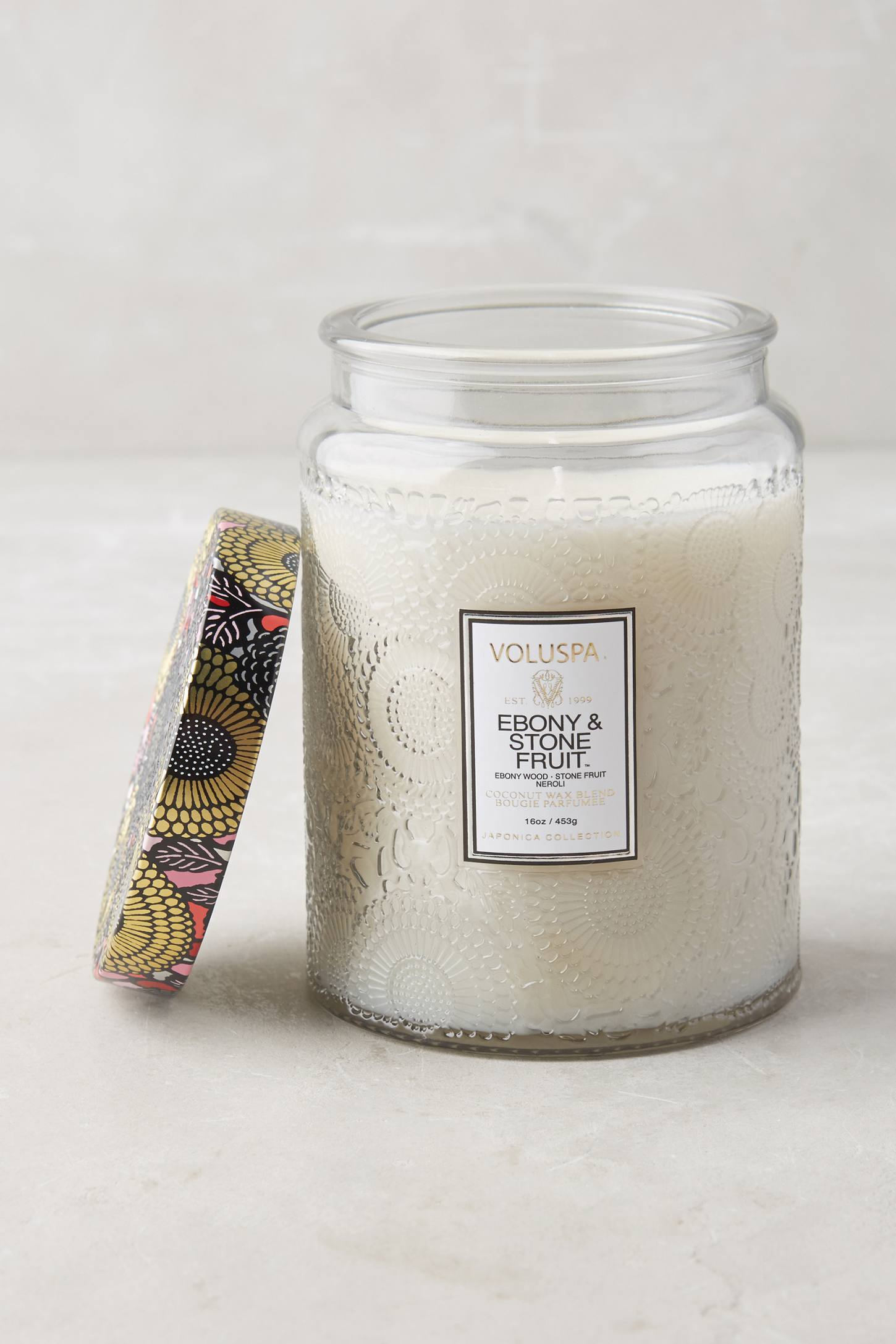 Slide View: 1: Limited Edition Voluspa Cut Glass Jar Candle