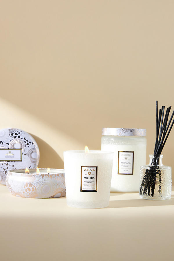 Slide View: 2: Limited Edition Voluspa Cut Glass Jar Candle