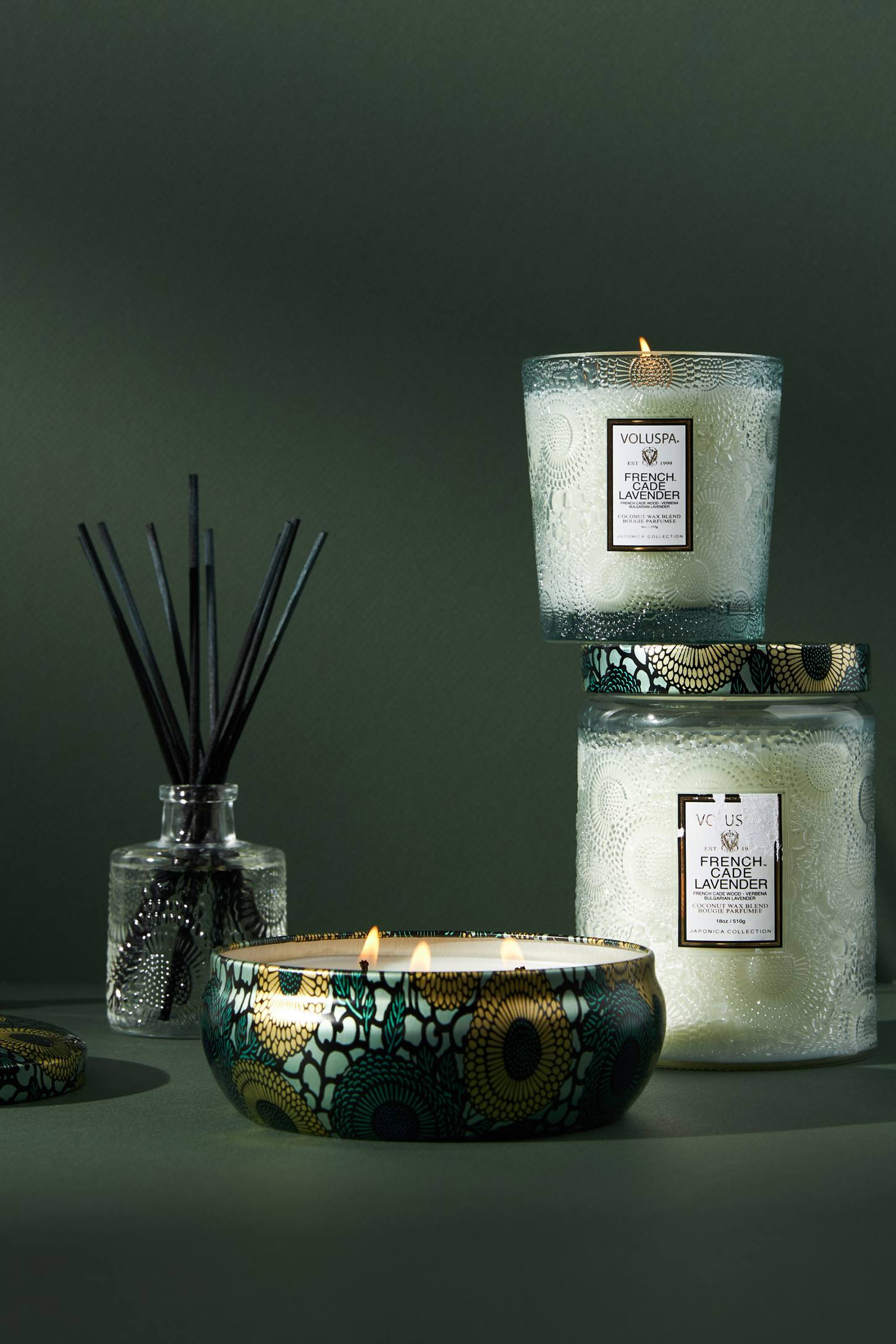 Limited Edition Voluspa Cut Glass Jar Candle