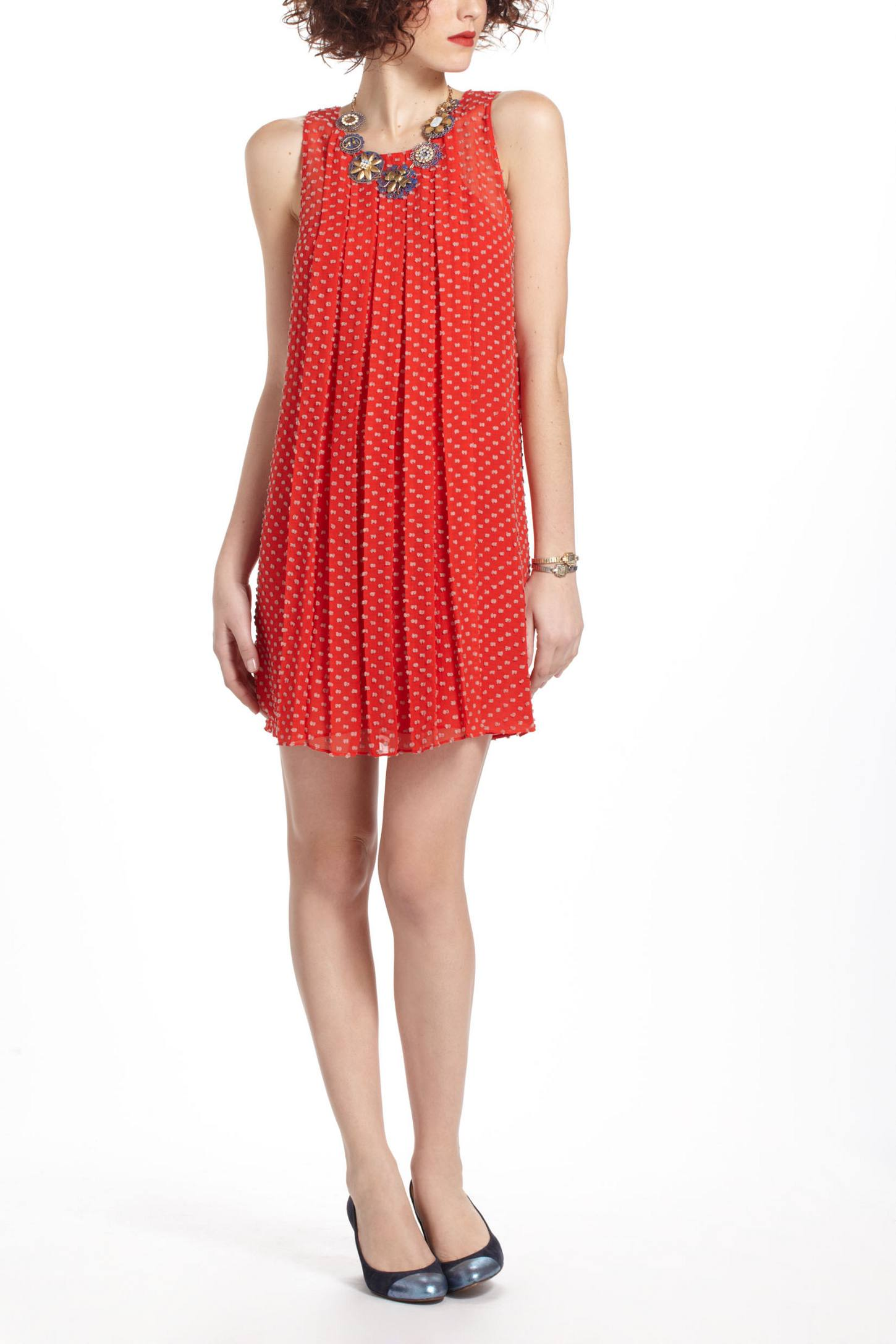 Flocked Speckle Dress