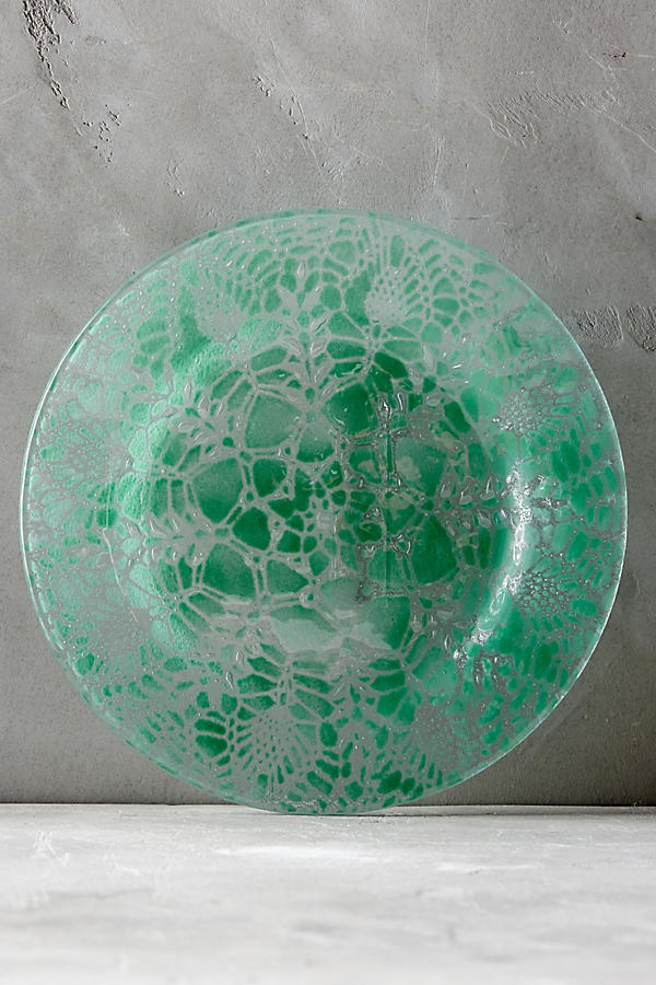 Frosted Doily Dinner Plate
