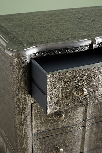 Slide View: 3: Hand-Embossed Six-Drawer Dresser
