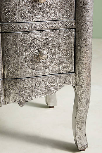 Slide View: 5: Hand-Embossed Six-Drawer Dresser