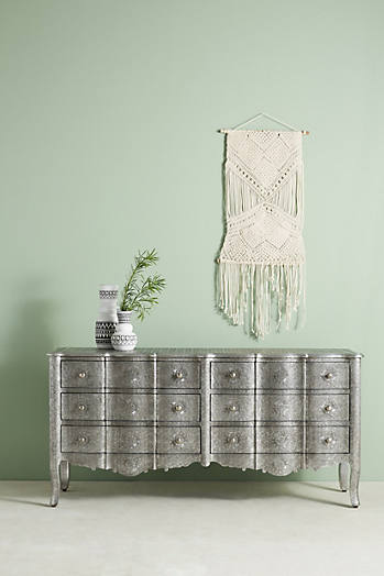 Slide View: 1: Hand-Embossed Six-Drawer Dresser
