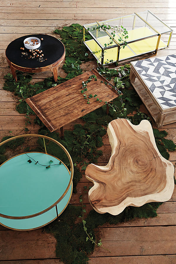 Slide View: 3: Burnished Wood Coffee Table