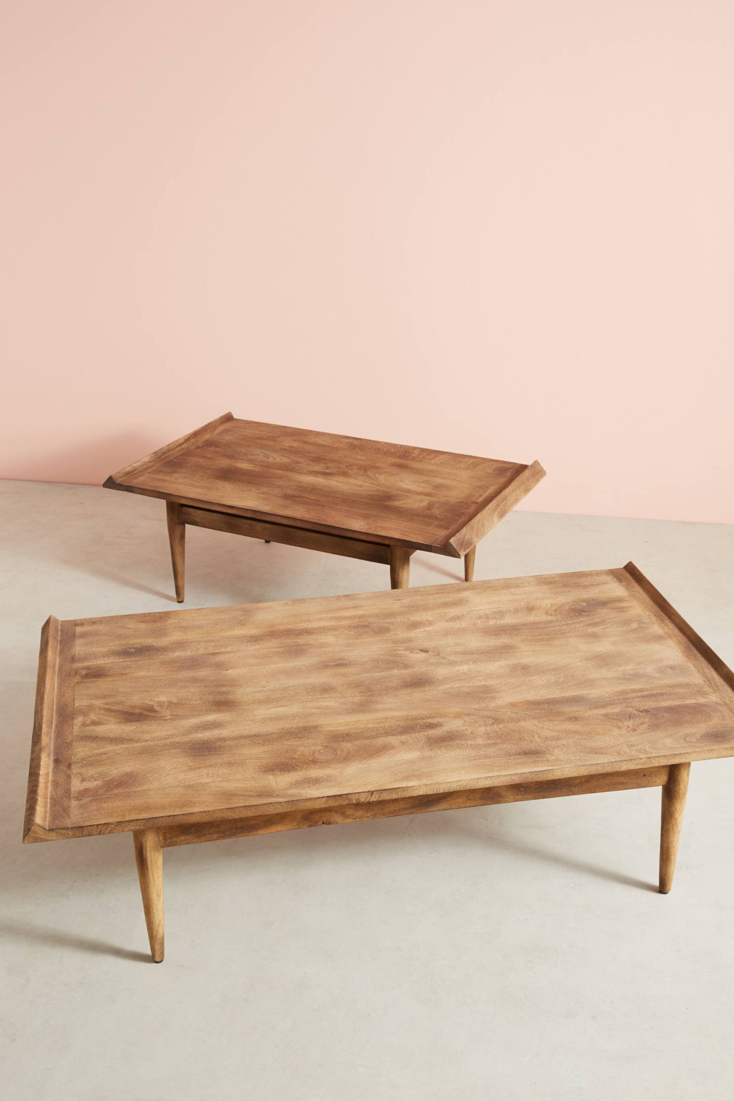 Slide View: 2: Burnished Wood Coffee Table