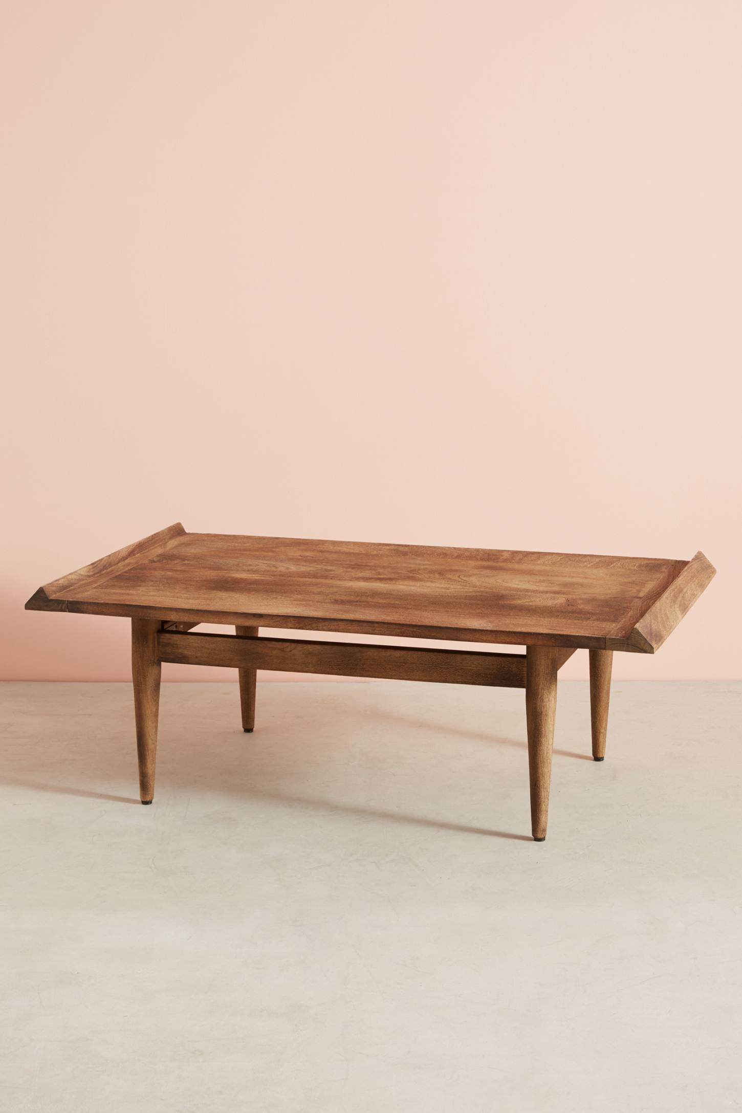 Slide View: 6: Burnished Wood Coffee Table