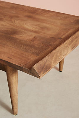 burnished wood coffee table | anthropologie