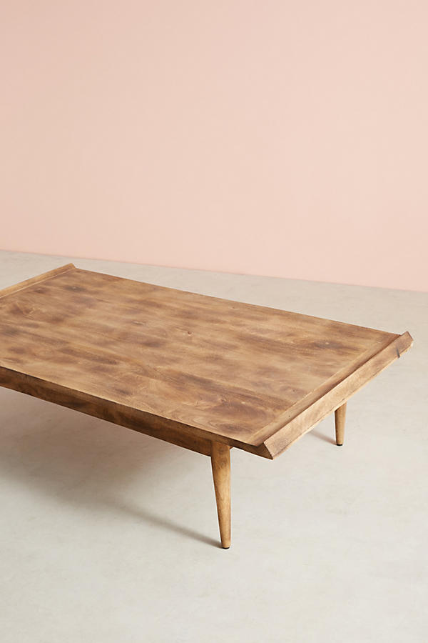 Slide View: 9: Burnished Wood Coffee Table