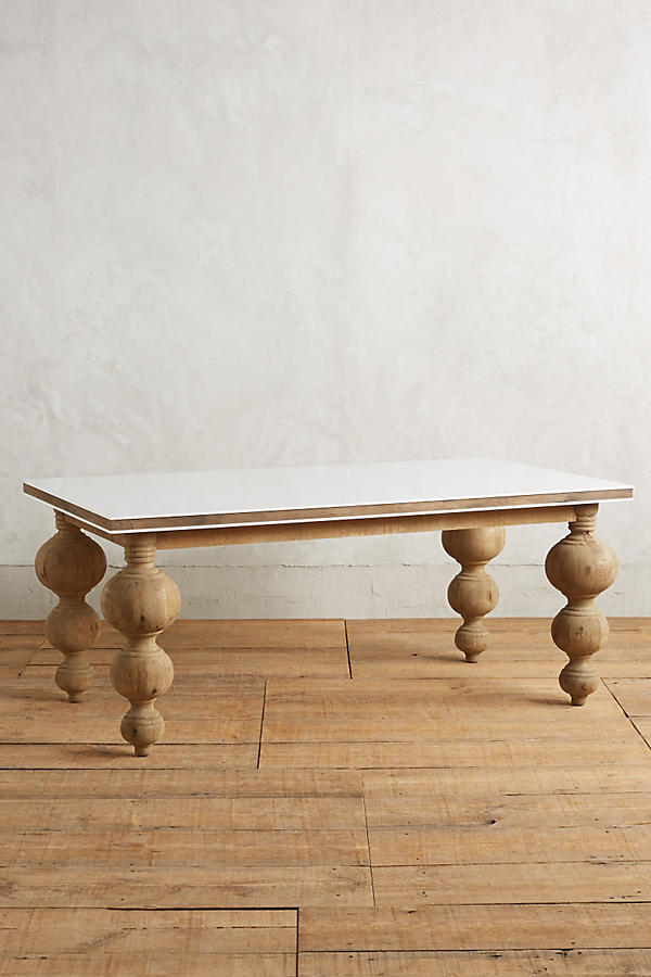 - Lacquered Elm Dining Table, Rectangle Anthropologie